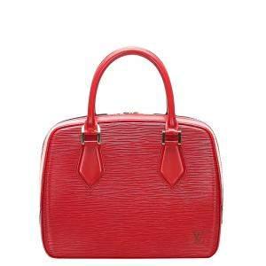 Louis Vuitton Red Epi Leather Sablon Bag