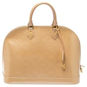 Louis Vuitton Rose Florentine Monogram Vernis Leather Alma GM Bag