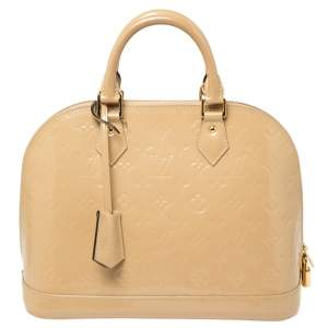 Louis Vuitton Dune Monogram Vernis Leather Alma PM Bag