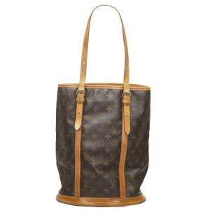 Louis Vuitton Brown Monogram Canvas Bucket GM Bag