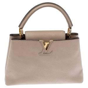 Louis Vuitton Galet Taurillon Leather Capucines PM Bag