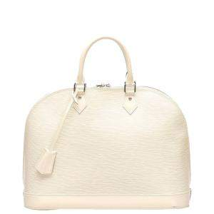 Louis Vuitton White Epi Leather Alma PM Bag