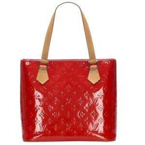 Louis Vuitton Red Monogram Vernis Houston Bag