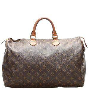 Louis Vuitton Brown Monogram Canvas Speedy 40 bag