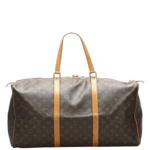 Louis Vuitton Brown Monogram Canvas Sac Souple 55 Bag