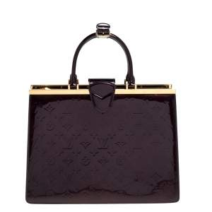 Louis Vuitton Amarante Monogram Vernis Leather Deesse GM Bag