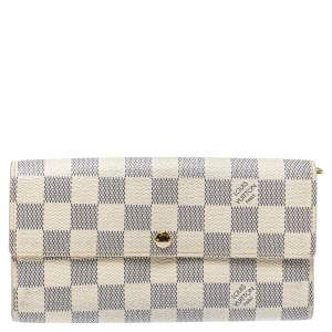 Louis Vuitton Damier Azur Canvas Sarah Wallet