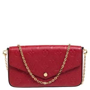 Louis Vuitton Cerise Monogram Empreinte Leather Pochette Felicie Bag