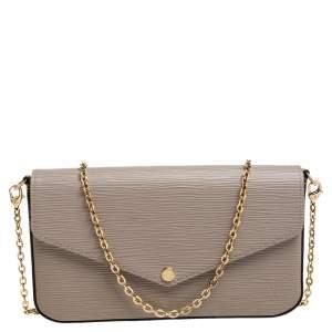 Louis Vuitton Galet Epi Leather Pochette Felicie Bag