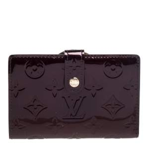 Louis Vuitton Amarante Monogram Vernis Port Feuille Vienoise French Purse Wallet