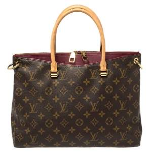 Louis Vuitton Aurore Monogram Canvas Pallas MM Bag