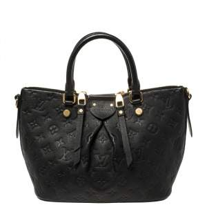 Louis Vuitton Black Monogram Empreinte Leather Mazarine PM Bag