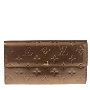 Louis Vuitton Rose Florentine Monogram Vernis Sarah Wallet