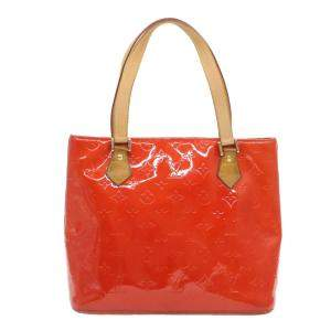 Louis Vuitton Orange Monogram Vernis Houston Tote Bag