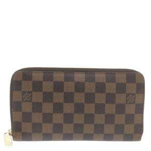 Louis Vuitton Brown Damier Ebene Canvas Zippy Organizer Wallet