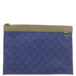 Louis Vuitton Blue Monogram Pacific Apollo Pochette Clutch
