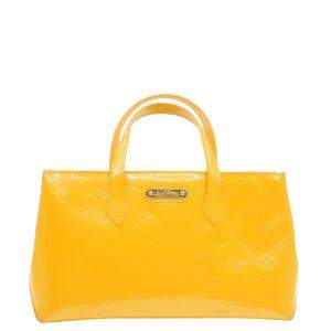 Louis Vuitton Yellow Monogram Vernis Leather Wilshire PM Bag