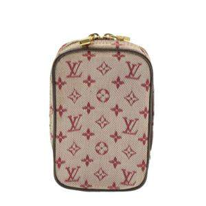 Louis Vuitton Monogram Mini Lin Canvas Digital Camera Case Bag