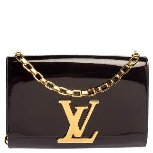 Louis Vuitton Rouge Fauviste Patent Leather Chain Louise Bag