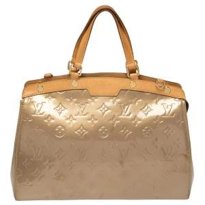 Louis Vuitton Beige Poudre Monogram Vernis Brea MM Bag