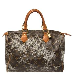 Louis Vuitton Monogram Canvas Limited Edition Dentelle Speedy 30 Bag