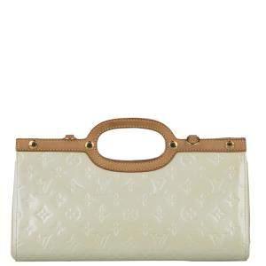 Louis Vuitton White Monogram Vernis Roxbury Drive Bag