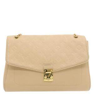 Louis Vuitton Beige Monogram Empreinte Leather Saint-Germain MM Bag