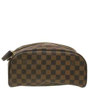 Louis Vuitton Damier Ebene Canvas Trousse Toilette King Size Pouch
