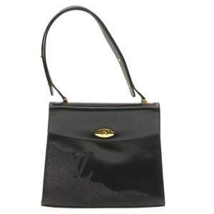 Louis Vuitton Black Leather Opera Line Delphes Bag