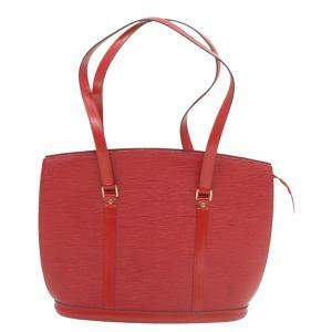 Louis Vuiiton Red Epi Leather Tote Bag