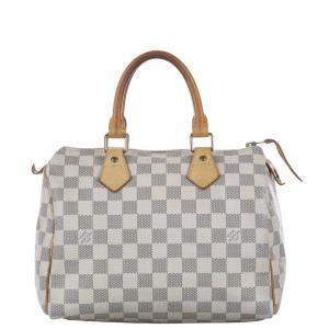 Louis Vuitton White/Grey Damier Azur Canvas Speedy 30 bag