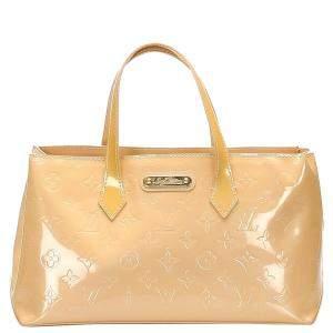 Louis Vuitton Beige Monogram Vernis Wilshire PM Bag