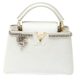 حقيبة لوي فيتون كيبوسينز جلد توريلون أبيض ثلجي