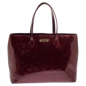 Louis Vuitton Amarante Monogram Vernis Wilshire MM Bag