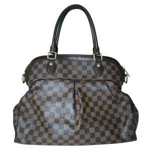 Louis Vuitton Brown  Damier Ebene Canvas Trevi GM Bag