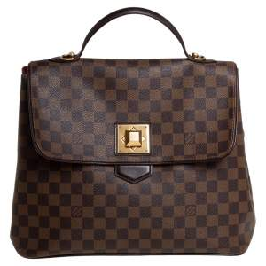 Louis Vuitton Damier Ebene Canvas Bergamo GM Bag