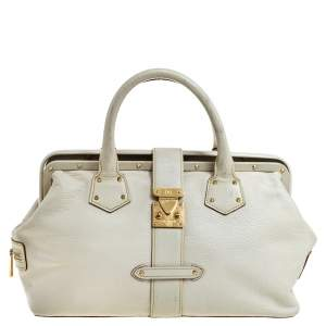 Louis Vuitton White Suhali Leather Lingenieux PM Bag