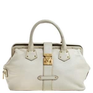Louis Vuitton White Suhali Leather Lingenieux PM Bag