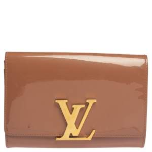 Louis Vuitton Rose Velours Patent Leather Louise Clutch