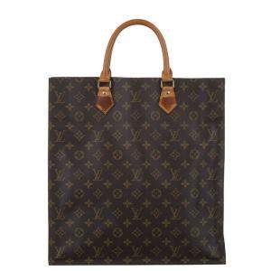 Louis Vuitton Brown Monogram Canvas Sac Plat Bag