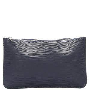 Louis Vuitton Blue Epi Leather Neverfull Pouch