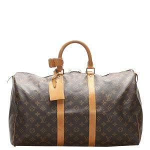 Louis Vuitton Monogram Canvas Keepall 45 Bag