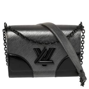 Louis Vuitton Grey/Black Epi Leather Twist MM Bag