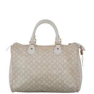 Louis Vuitton White Monogram Idylle Canva Speedy 30 Bag
