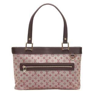 Louis Vuitton Pink Monogram Mini Lin Canvas Lucille PM Bag