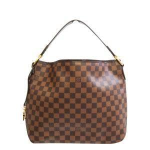 Louis Vuitton Brown Canvas Leather Delightful PM Shoulder Bag