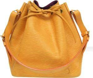 Louis Vuitton Yellow Leather Epi Petit Noe Shoulder Bag