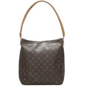 Louis Vuitton Brown Monogram Canvas Looping GM Bag