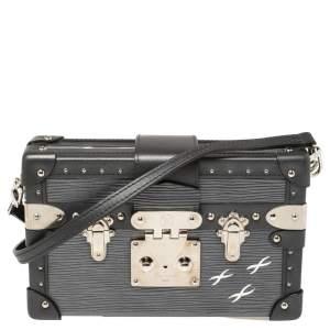 Louis Vuitton Anthracite Nacre Epi Leather Petite Malle Bag