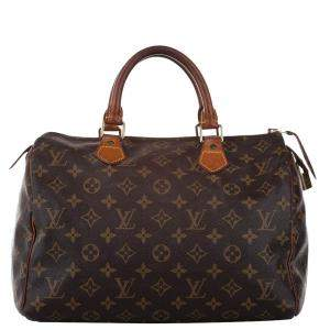 Louis Vuitton Brown Monogram Canvas Speedy 30 Bag
